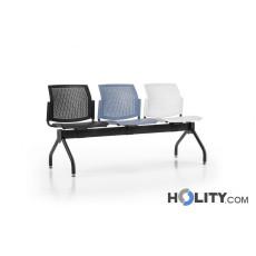 3er-Sitzbank für Wartesaal aus Kunststoff h498_05