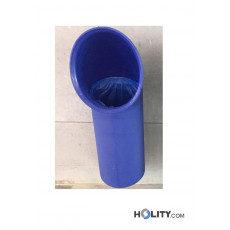 Müllbehälter aus Kunststoff als Stadtmobiliar h507_01