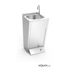 Handwaschbecken aus Edelstahl, Fussbedienung h509_08