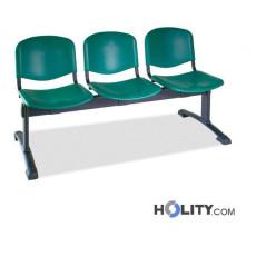 Sitzbank mit 3 Plätzen für Wartesaal h511_07