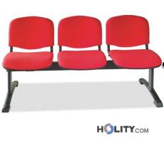 Sitzbank mit 3 Plätzen für Wartesaal h511_08