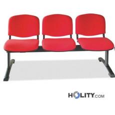 Sitzbank mit 3 Plätzen für Wartesaal h511_09
