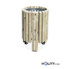 Mülleimer mit Holz für Aussenbereich h521_10