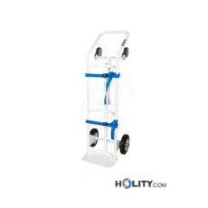 Wagen für Sauerstoffflaschen mit Bremse h55_42
