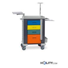 Medizinischer Notfallwagen mit 4 Schubladen h564_15