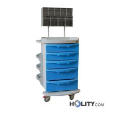 Medikationswagen aus Stahl für Krankenhäuser h564_36