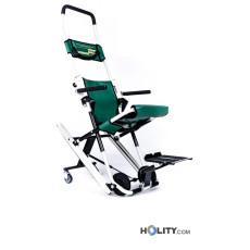 Patiententransportstuhl mit Armlehnen und Fußstütze h568_02