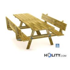 Picknicktisch mit erleichtertem Zugang h575_40