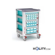 Medikamentenwagen mit 3 Schubladen für Kliniken h619_17