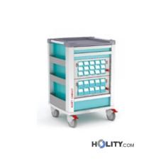 Medikamentenwagen mit 25 Fächern für Kliniken h619_18