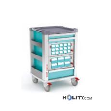 Medikamentenwagen mit 21 Fächern für Kliniken