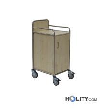 Wäschewagen mit einer Tür für Krankenhaus h640_18