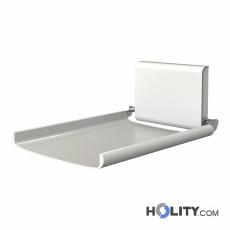 Wickeltisch, wandmontiert für öffentliche Toiletten h647_01
