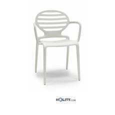 SCAB Designer Stuhl COKKA mit Armlehnen h7417 - leinen