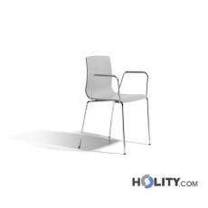SCAB Design Stuhl ALICE mit Armlehnen h74281 hellgrau