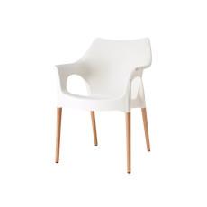 SCAB Design-Sessel NATURAL OLA leinenweiß h7495