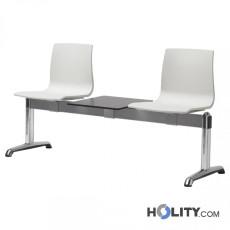 Sitzbank mit 2 Plätzen und Tisch für Wartesaal h74_347