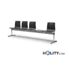Sitzbank mit 4 Plätzen und Tisch für Wartesaal h74_351
