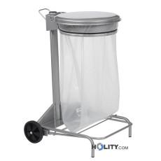 Abfallwagen aus Stahl, 50 Liter h8623