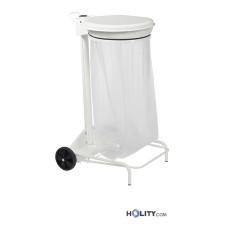 Abfallwagen aus Stahl für Profiküchen, 110 Liter h86_107