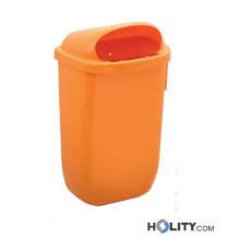 Abfallbehälter aus Kunststoff als Stadtmobiliar h86_82