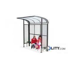 Überdachung Bushaltestelle mit Bank h140205