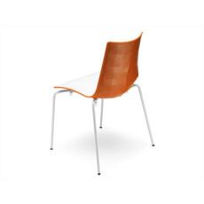 SCAB Designer Stuhl ZEBRA Outdoor h74114 - weiss / orange