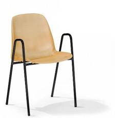 Stapelbarer Konferenzstuhl mit Armlehnen und Reihenverbinder h15948