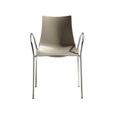 Design Stuhl ZEBRA mit Armlehnen einfarbig h74309