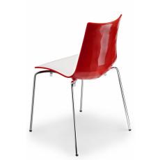 SCAB Designstuhl ZEBRA 4 Beine h7414 - rot