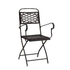 Klappbarer Gartenstuhl aus Stahl mit Armlehnen h7488