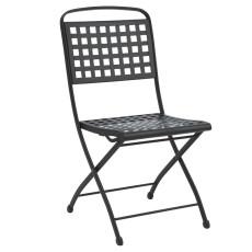 Garten-Klappstuhl aus Stahl ohne Armlehnen h7487