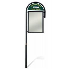 Vertikale Werbetafel Bushaltestelle h140217