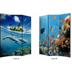 Paravent mit Meer-Design 11803