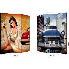 Sichtschutzwand mit Vintage Design h11805