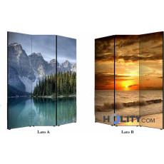 Raumteiler mit Landschafts-Impressionen h11804