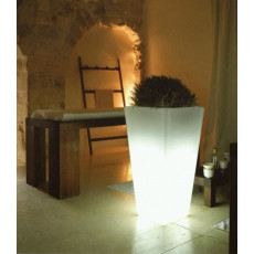 Viereckige leuchtende Vase h10403