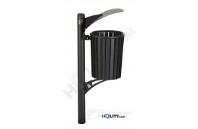 Abfallbehälter mit Stahlverkleidung h140117