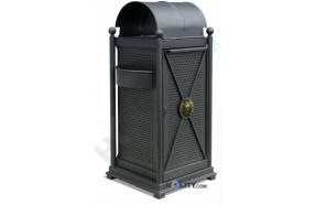 Abfallbehälter mit Innenbehälter und Regenschutz h140133
