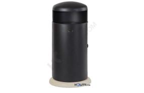 Metall-Abfallbehälter mit Betonsockel h140143