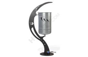 Design-Abfallbehälter mit Schutzdach h14093