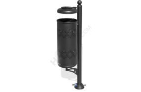 Abfallbehälter mit Regenschutz und Ascher h14098