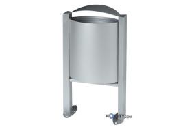 Abfalleimer aus Stahl und in verschiedenen Farben h8609