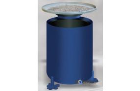 Stand-Abfallhälter mit Ascher h168120