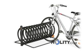 Spiral-Fahrradständer aus Stahl h14057