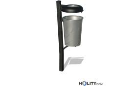 Abfallbehälter mit Ascher h14095