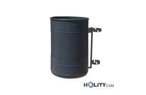 Abfallbehälter mit Pfahlbefestigung h28765