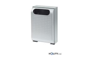Wand-Abfallbehälter aus Stahl h8606 grau