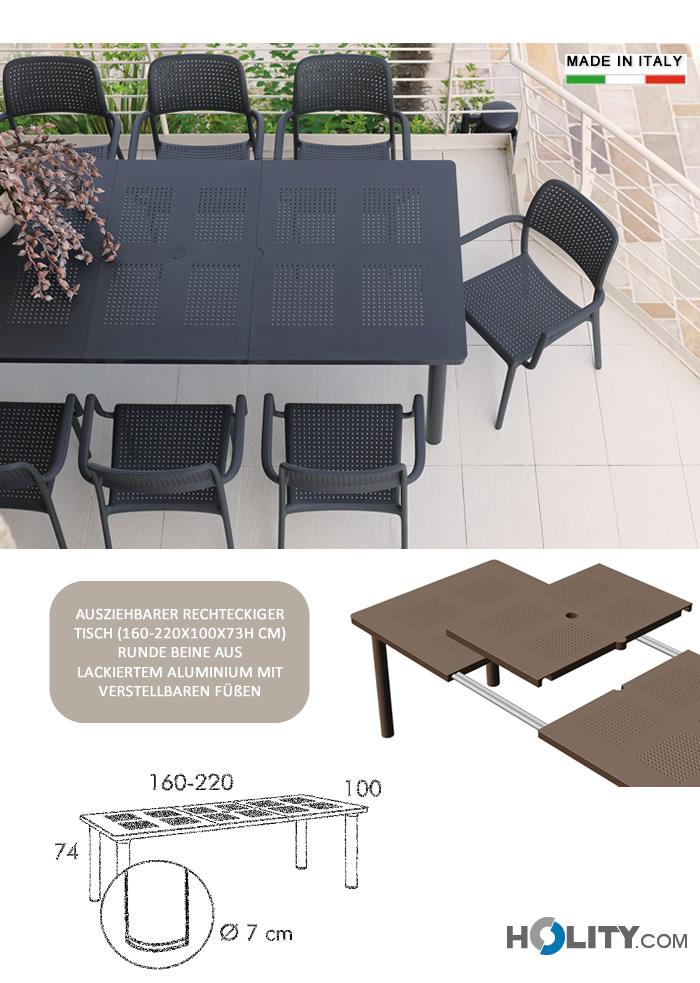 suchen sie ausziehbarer rechteckiger tisch aus harz und. Black Bedroom Furniture Sets. Home Design Ideas