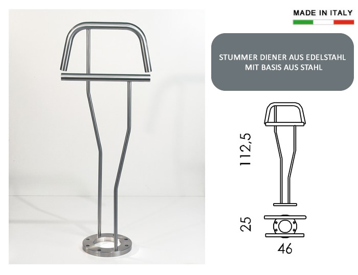 herrendiener aus edelstahl h9716. Black Bedroom Furniture Sets. Home Design Ideas